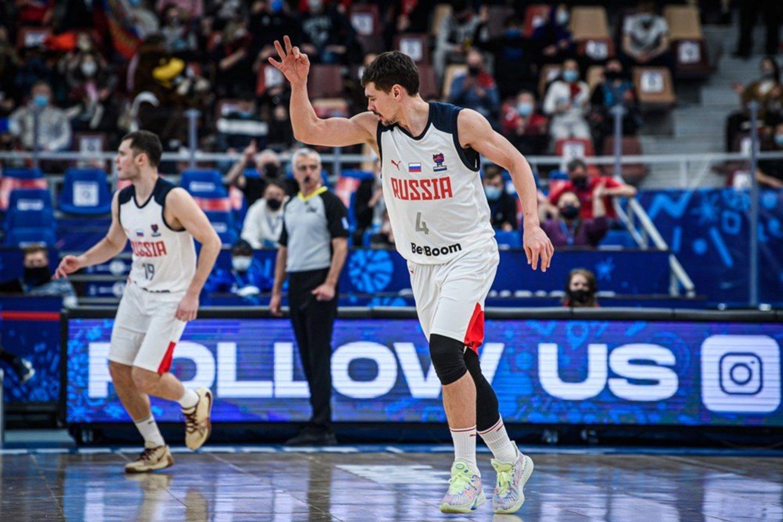 Rusijos krepšinio rinktinė.<br>FIBA nuotr.