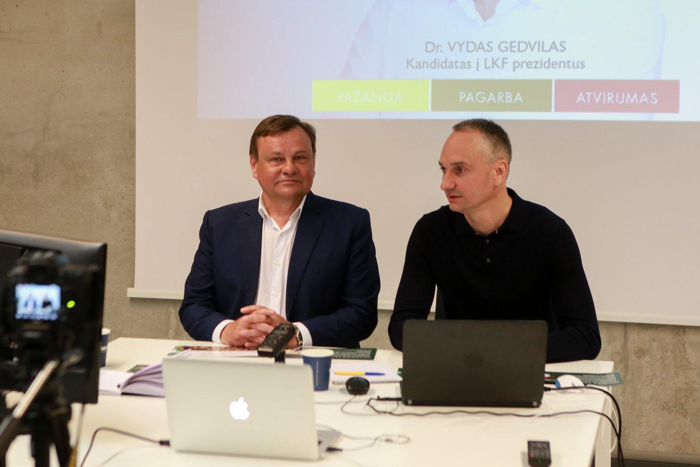 V.Gedvilas ir Mindaugas Balčiūnas<br>G.Bitvinsko nuotr.
