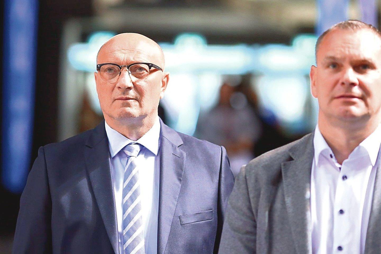 LKF sporto direktorius R.Butautas (nuotr. kairėje).<br>G.Bitvinsko nuotr.