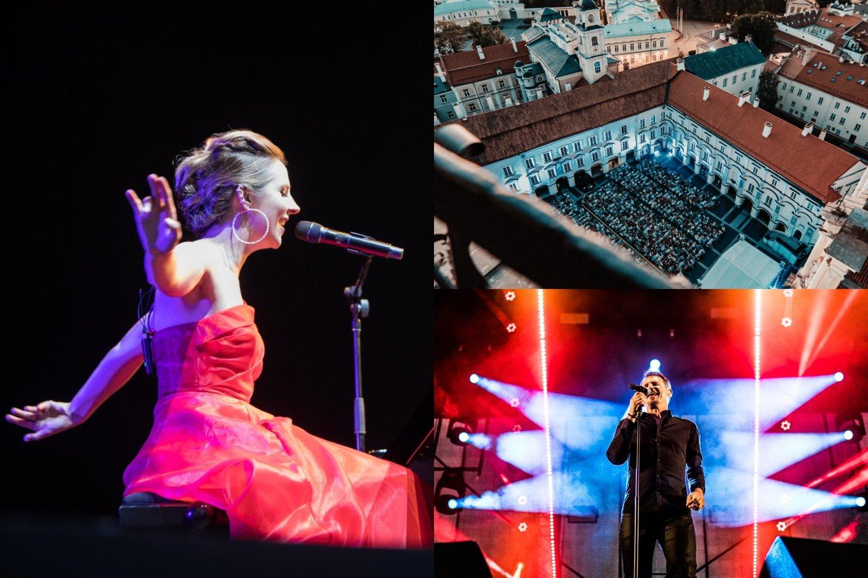 """Rugpjūčio mėnesį Vilniaus universiteto didžiajame kieme ir Mokytojų namų kiemelyje (""""Vasaros terasoje"""") vyks tradicinis miesto muzikos festivalis """"Untold City"""".<br>lrytas.lt montažas."""