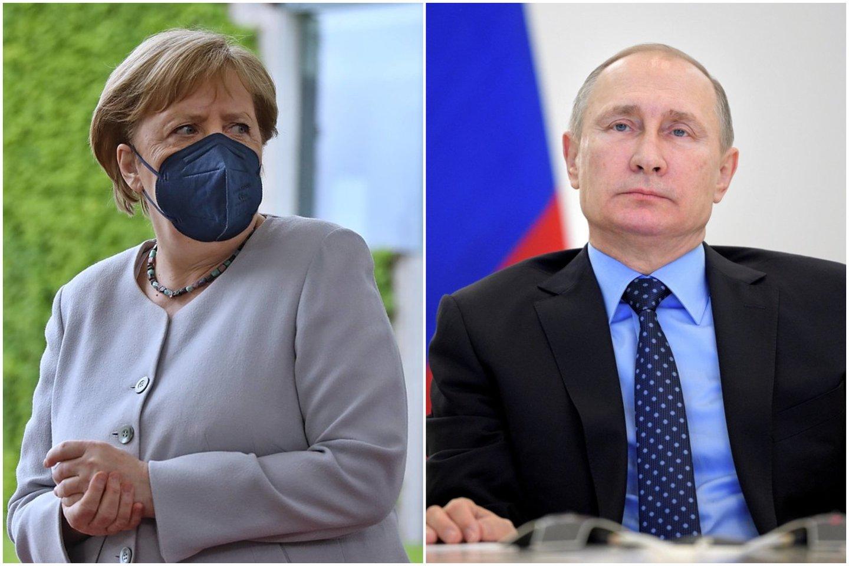 Minint nacių įsiveržimo į Sovietų Sąjungą 80-ąsias metines A. Merkel paskambino V. Putinui.<br>Lrytas.lt koliažas