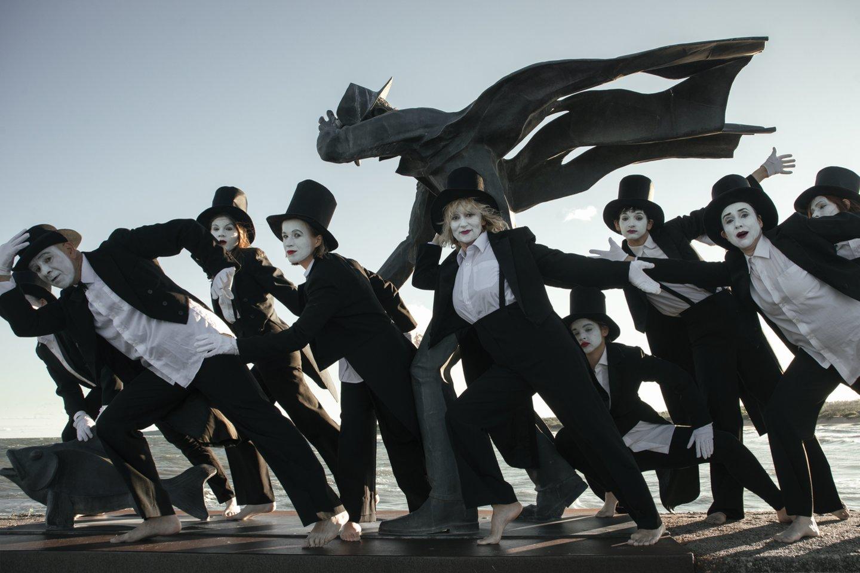 A.Mažono pantomimos teatras kurs festivalio nuotaiką.<br>Organizatorių nuotr.