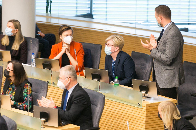Ingrida Šimonytė, konservatoriai, Agnė Bilotaitė, Gabrielius Landsbergis, Radvilė Morkūnaitė-Mikulėnienė<br>T.Bauro nuotr.