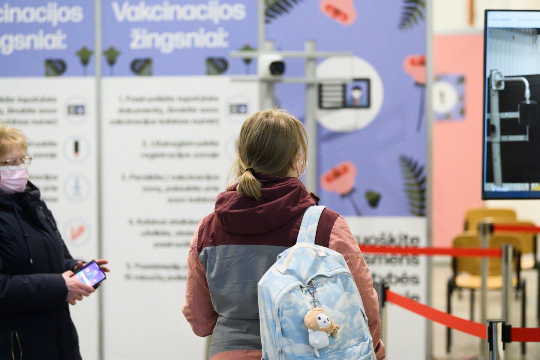 Litexpo, vakcinacija, masinės vakcinacijos centras, skiepai, vakcina, koronavirusas.<br>V.Skaraičio nuotr.