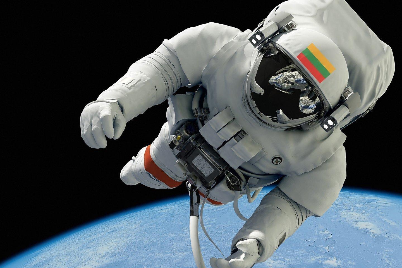Pabandyti tapti astronautais nusprendė 80 lietuvių: 62 vyrai ir 18 moterų.<br>123rf nuotr., lrytas.lt mont.