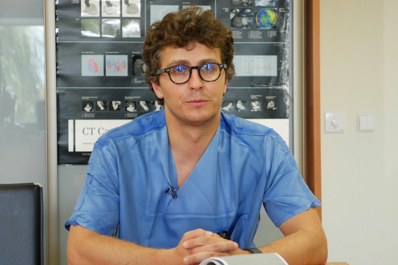 Santaros klinikų kardiologas Rokas Šerpytis.<br>TV8 nuotr.