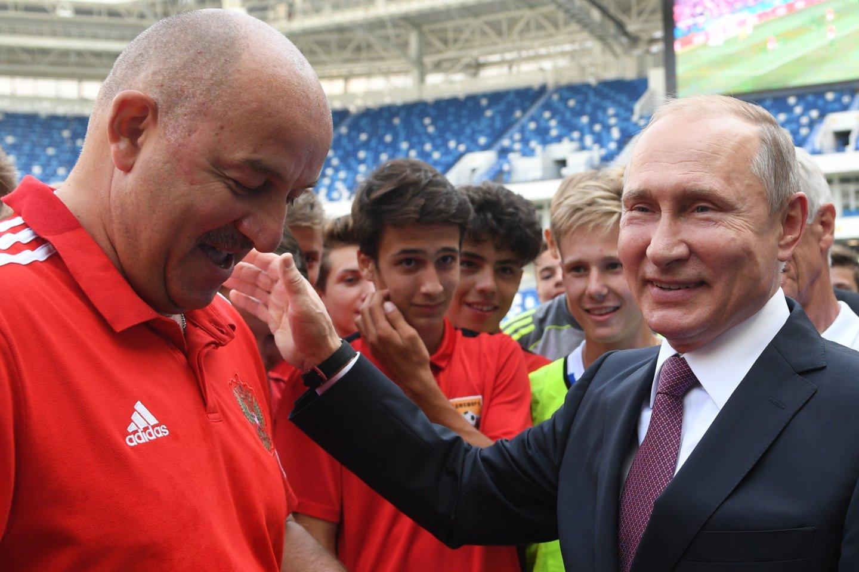S.Čerčesovas ir V. Putinas<br>AFP/Scanpix nuotr.