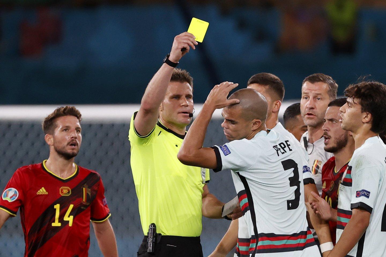 Belgija eliminavo iš Europos pirmenybių portugalus.<br>AP/Scanpix nuotr.