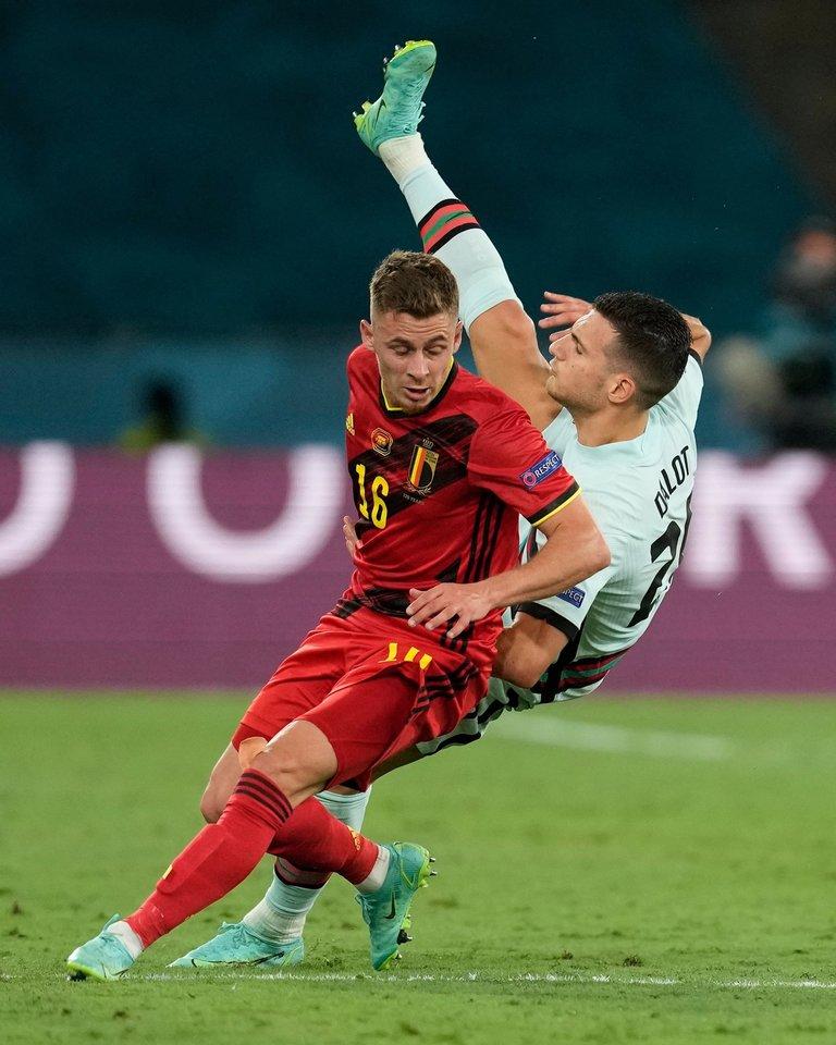 Belgija eliminavo iš Europos pirmenybių portugalus.<br>Reuters/Scanpix nuotr.