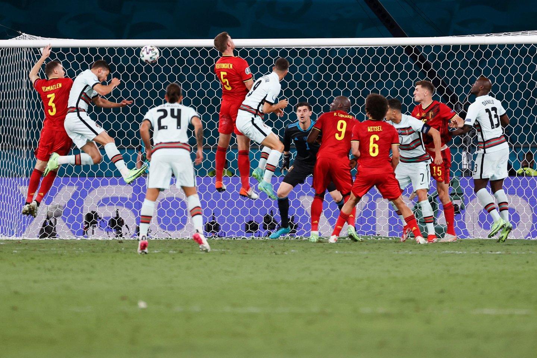 Belgija eliminavo iš Europos pirmenybių portugalus.<br>AFP/Scanpix nuotr.