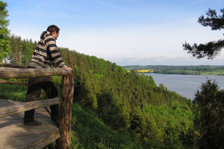 Kadagių slėnio pažintinis takas Kauno marių regioniniame parke.<br>VSTT–ELTA nuotr.