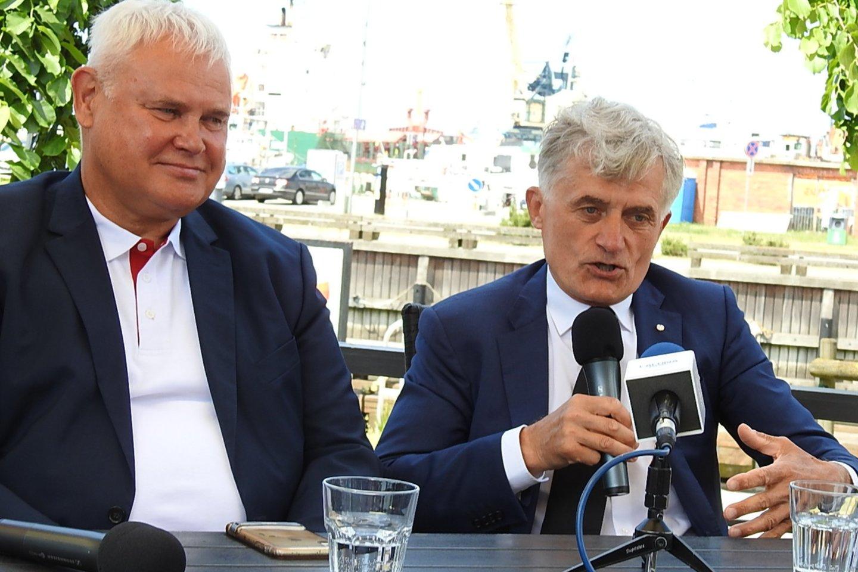 Vytautas Grubliauskas ir Algis Latakas.<br>G.Pilaičio nuotr.