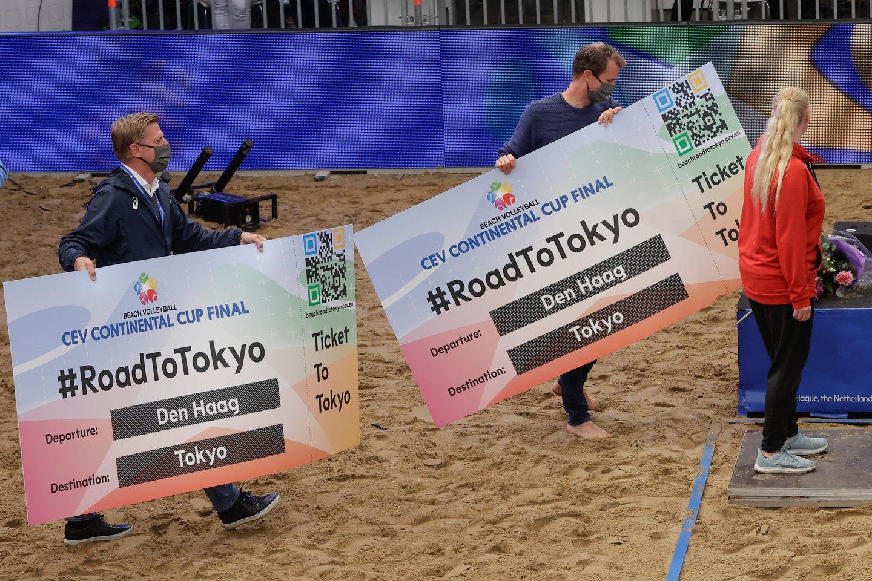 Lietuviai neiškovojo olimpinių kelialapių.<br>CEV nuotr.