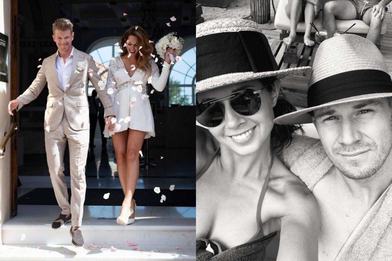 Ką tik susituokę F-1 pilotas Nico Hulkenbergas ir lietuvaitė Eglė Ruškytė laukia pirmagimio.<br>Instagramo nuotr.