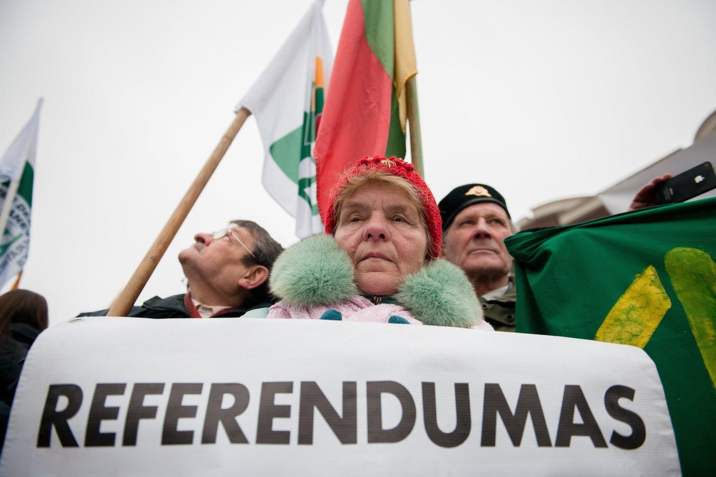 Seime pritarta Referendumo konstitucinio įstatymo projektui.<br>J.Stacevičiaus nuotr.