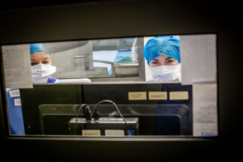 Santaros klinikos, koronavirusas Lietuvoje<br>V.Balkūno nuotr.