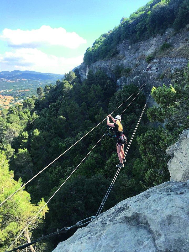 Gintarė Eimantaitė kopė į Ispanijos kalnus.<br>Nuotr. iš asmeninio archyvo