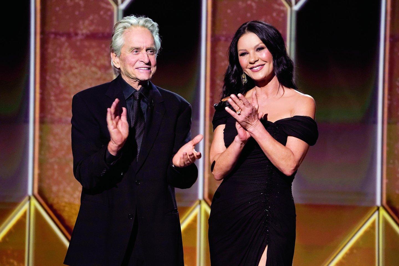 """M.Douglasas ir C.Zeta-Jones susituokę daugiau ne 20 metų.<br>""""Scanpix"""" nuotr."""
