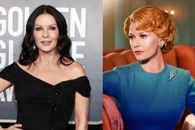 Catherine Zeta-Jones įkūnijoi Holivudo įžymybę Olivią de Havilland.
