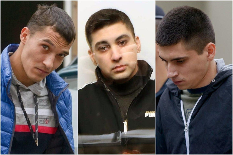 I.Strazdauskaitės žudikai išgirdo Aukščiausiojo teismo verdiktą.<br>Lrytas.lt koliažas