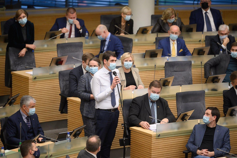 Trečiadienį, pasibaigus Seimo pavasario sesijai, neoficialiai prasideda parlamentarų atostogos.<br>V.Skaraičio nuotr.