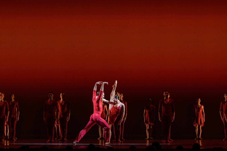 "O.Šaitanova ir J.Krivickas balete ""Bolero"".<br>M.Aleksos nuotr."