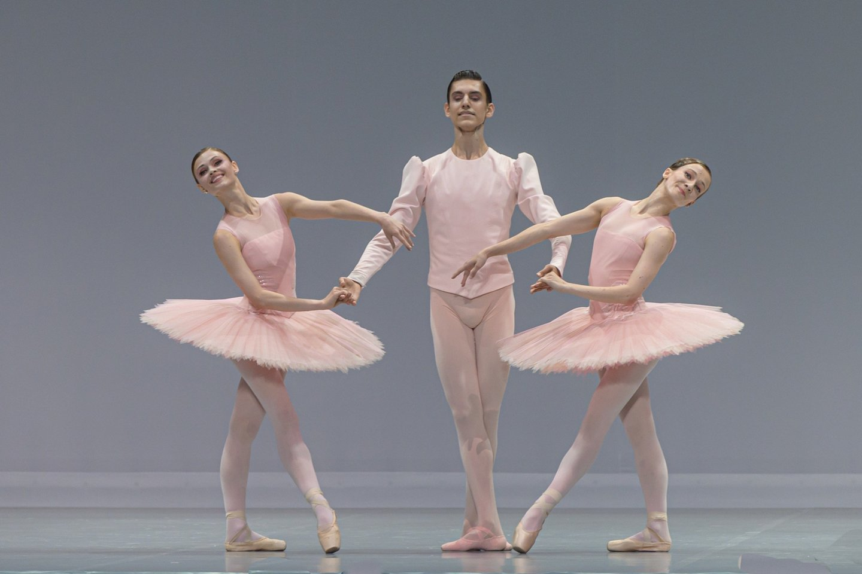 "M.Kastorina, E.Jakonis, J.Stankevičiūtė balete ""Paquita"".<br>M.Aleksos nuotr."
