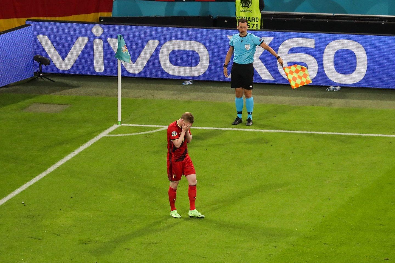 K.De Bruyne vedama Belgijos rinktinė nepateko į pusfinalį.<br>Sipapress/Scanpix nuotr.