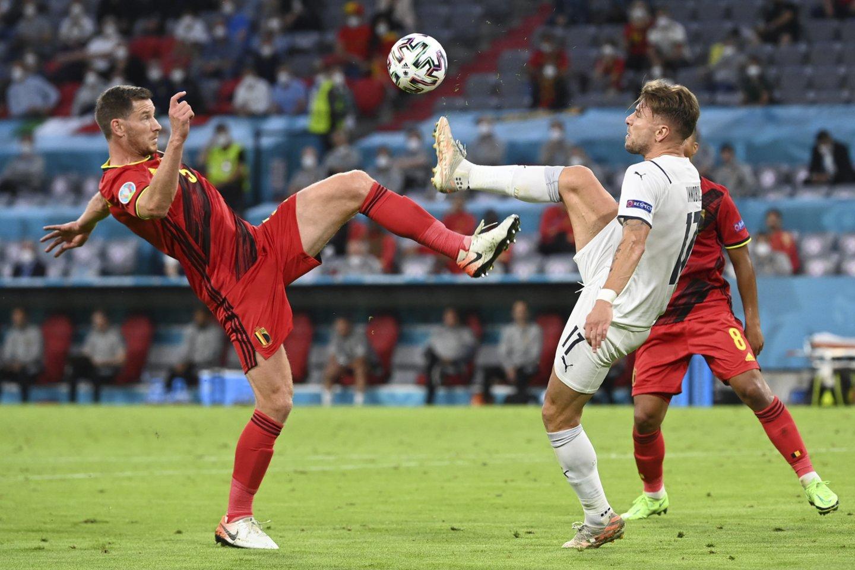 K.De Bruyne vedama Belgijos rinktinė nepateko į pusfinalį.<br>AFP/Scanpix.com nuotr.