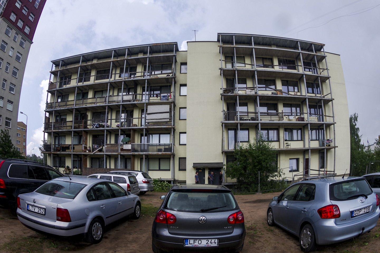 Namas Laisvės pr.45a,balkonai<br>V.Ščiavinsko nuotr.