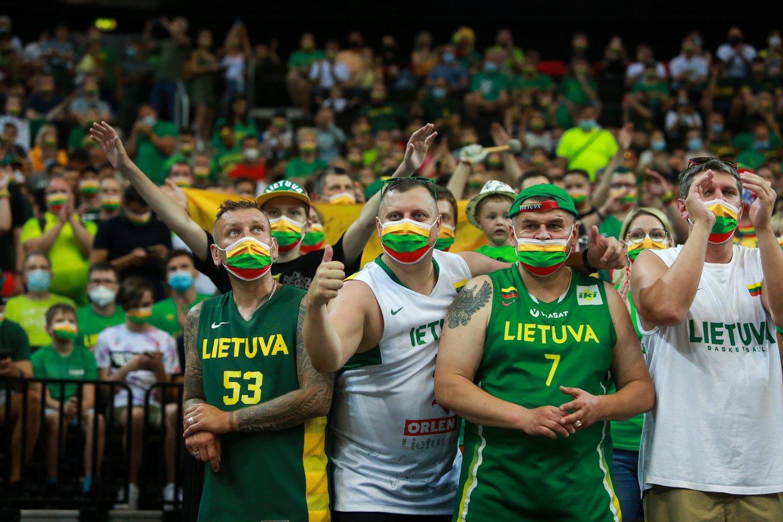 Lietuvos ir Slovėnijos rungtynės.<br>G.Bitvinsko nuotr.