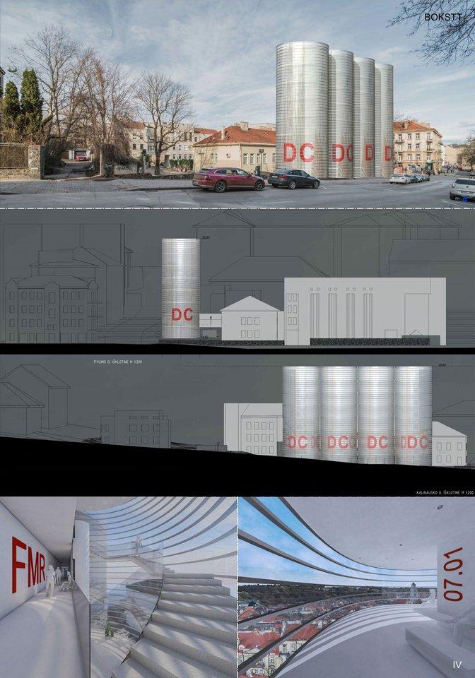 BOKSTT – projektuojant Diagnostikos centrą (DC) buvo siekiama, kad pastatas savo forma, išraiška atspindėtų vidinį turinį.<br>Vizual.