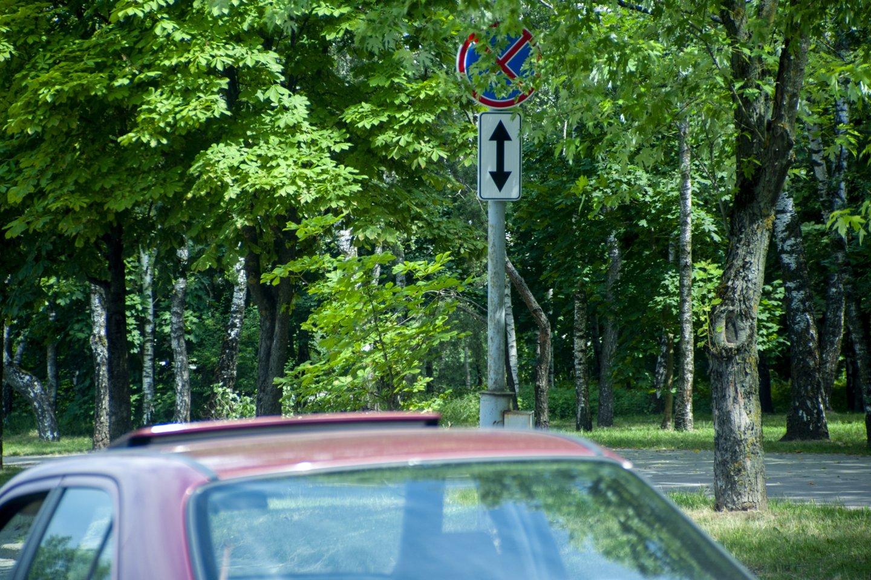 Sostinės Lazdynų mikrorajono vairuotojai nepatenkinti savivaldybės darbu.<br>V.Ščiavinsko nuotr.