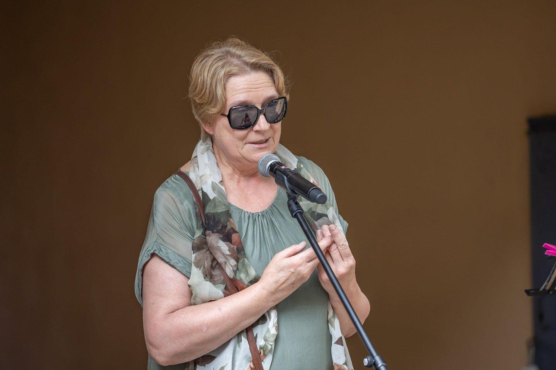 Stefanijos Ladigienės vaikaitė žurnalistė, vertėja Liudvika Pociūnienė.<br>Vilniaus savivaldybės nuotr.