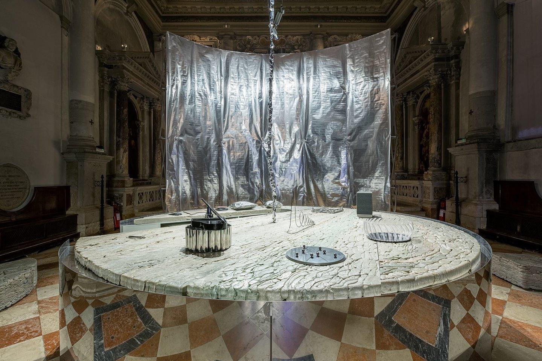 Julijono Urbono įsteigtos Lietuvos erdvės agentūros laboratorija, 17-oje Venecijos architektūros bienalėje, 2021, Venecija.<br>A.Valiūtės ir D.Plechavičiaus nuotr.