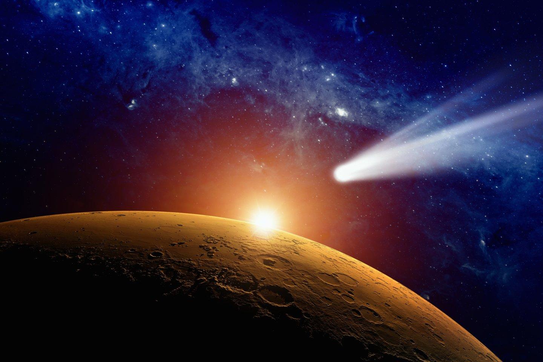 C/2014 UN271 iki Saulės artės dar dešimtmetį, o 2031-aisiais priartės iki 11 AU – truputį toliau, nei Saturno orbita (asociatyvinė iliustr.)<br>123rf iliustr.