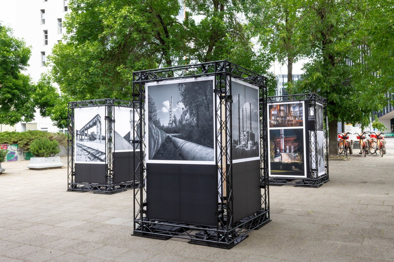 Fotografo Germano Simonsono industrinės meninės fotografijos darbų paroda.<br>Lietuvos energetikos muziejaus nuotr.