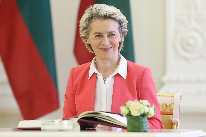 EK vadovė Ursula von der Leyen atvyko į Lietuvą.<br>R.Danisevičiaus nuotr.