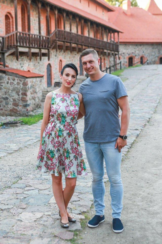 Festivalio meno vadovė Indrė Jučaitė-Sarneckienė su vyru Rūteniu.<br>G.Bitvinsko nuotr.