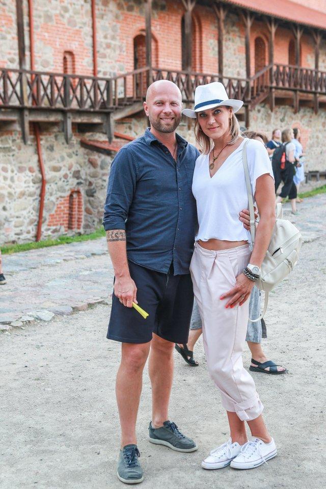 Verslininkas Morenas Jasevičius su žmona rašytoja Kristina Jaseviče.<br>G.Bitvinsko nuotr.