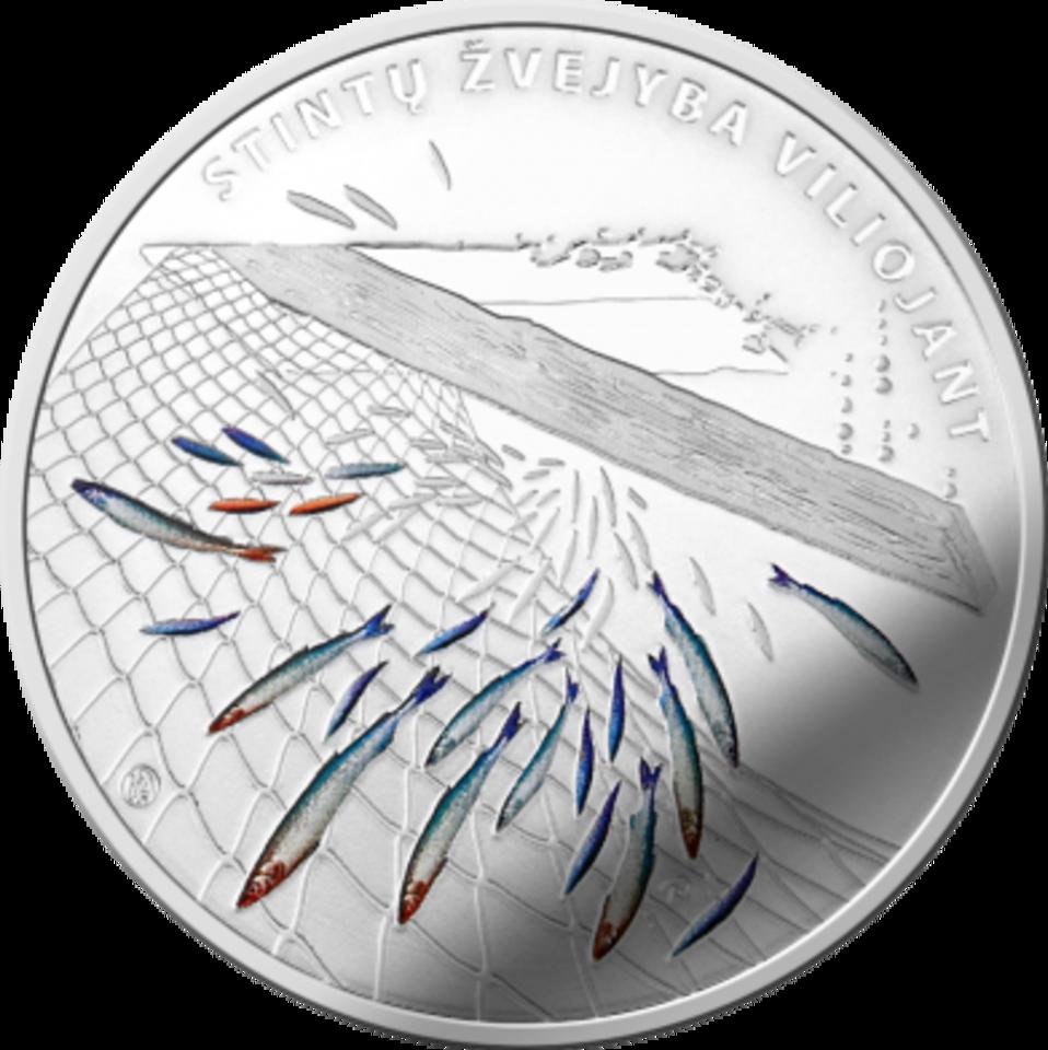 Bumbinimas pavaizduotas kolekcinėje monetoje.