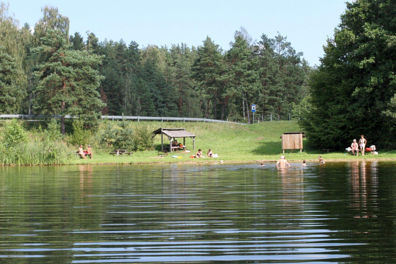 Poros maudynės prie ežero šeimą išmušė iš vėžių. Praėjo noras net bristi į vandenį.<br>M.Patašiaus asociatyvioji nuotr.