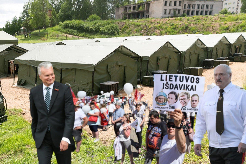 Sankcijų spaudžiamas A.Lukašenka jau dabar gali trinti rankas – jei jis norėjo sukelti kuo didesnę sumaištį kaimyninėje Lietuvoje, jam tai pavyko.<br>lrytas.lt montažas.