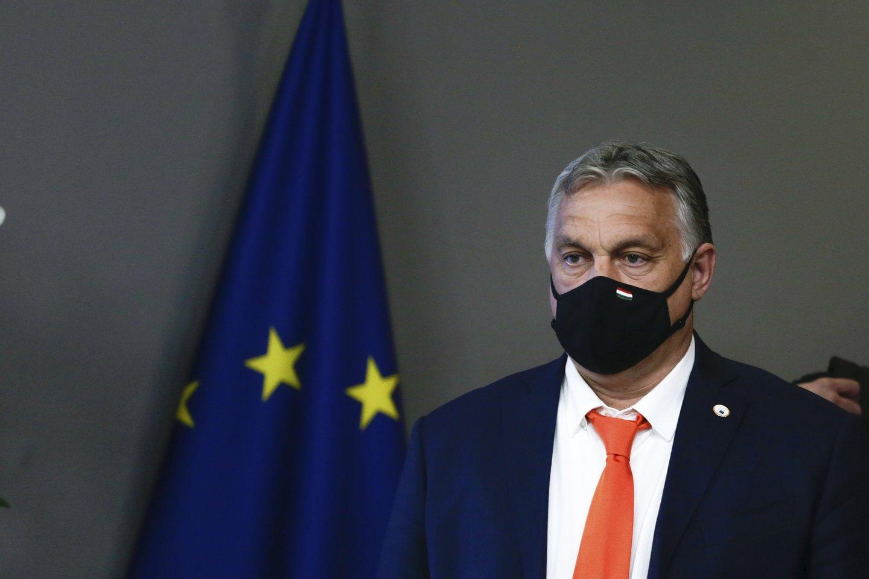 Vengrijos vadovas V.Orbanas.<br>AP/Scanpix nuotr.