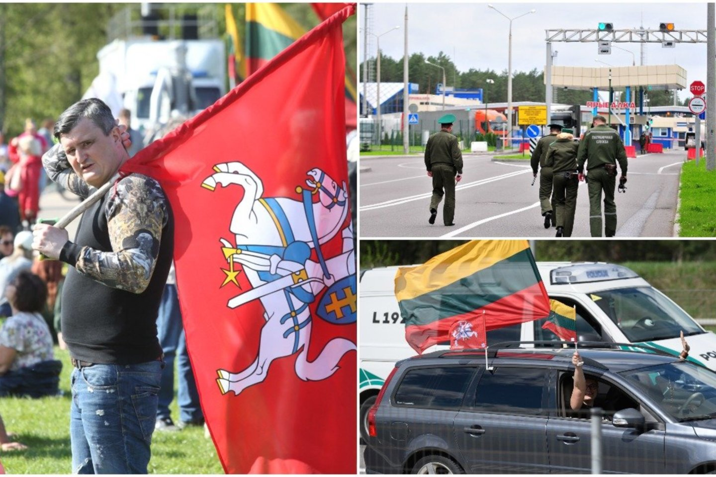 Marširuotojai surengė dar vieną akciją – patraukė prie Baltarusijos sienos: Vyriausybei iškėlė reikalavimus.<br>Lrytas.lt montažas.
