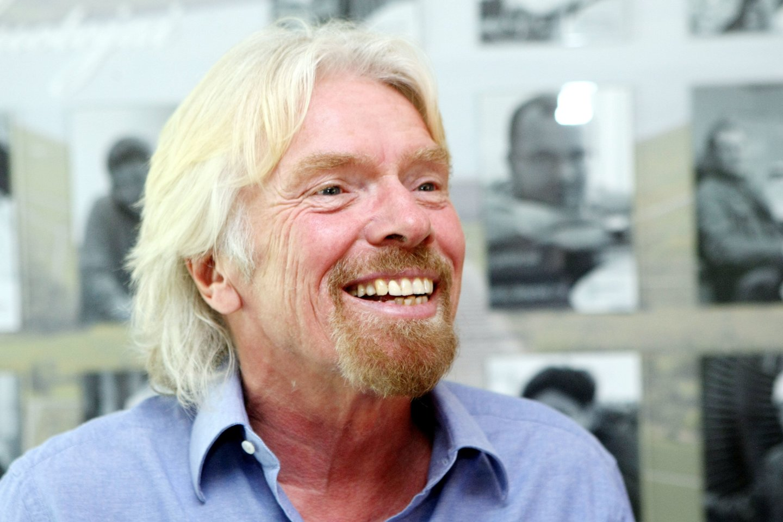 Milijardierius R. Bransonas sekmadienį pakilo į kosmosą.<br>R.Danisevičiaus nuotr.