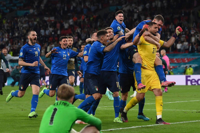 Italijos futbolo rinktinė tapo Europos čempione.<br>AP/Scanpix nuotr.