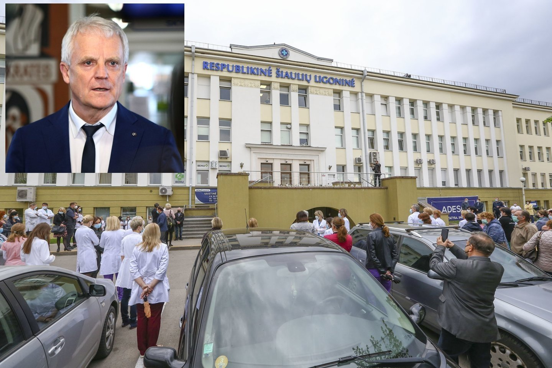 SAM atšaukia R.Mažeiką iš Respublikinės Šiaulių ligoninės direktoriaus pareigų.<br>lrytas.lt nuotr. koliažas