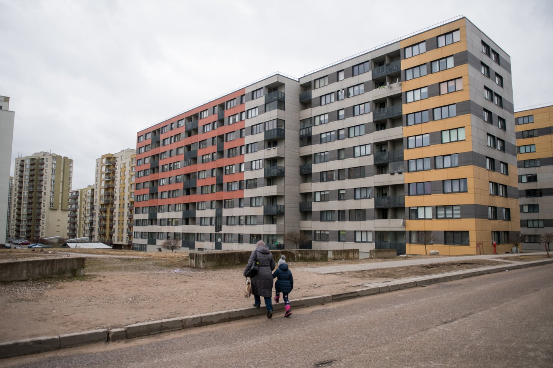 """""""1Partner LT"""" būsto kainų indekso """"1PI"""" duomenimis, antrinėje rinkoje bendras butų kainų lygis Vilniuje per šešis šių metų mėnesius padidėjo 14,1 proc. (207 eurų / kv. m) iki 1675 eurų / kv. m.<br>D.Umbraso nuotr."""