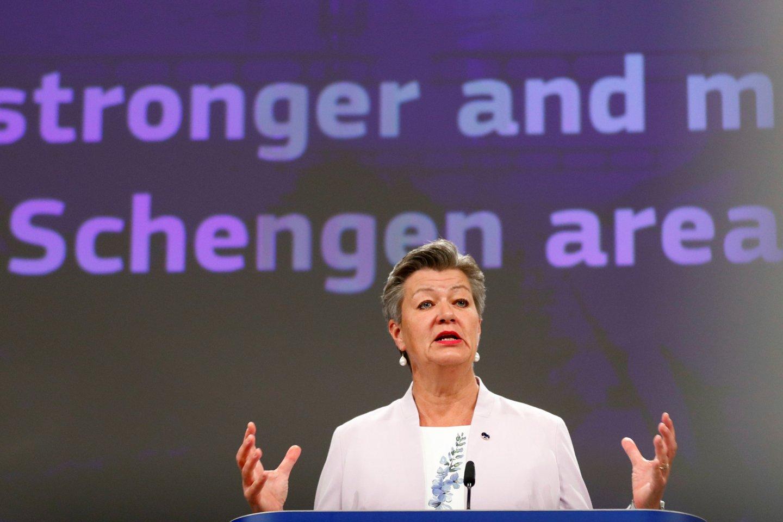 Vidaus reikalų eurokomisarė Ylva Johansson.<br>Reuters/Scanpix nuotr.